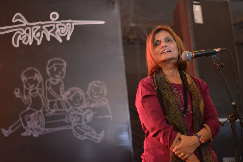 Professor at IIT, storywriter and designer, Nina Sabnani showed her animated films