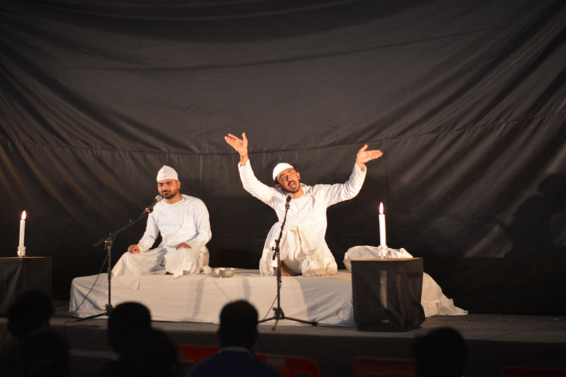 Dastangoi by celebrated dastangoh Late Ankit Chaddha and Himanshu Vajpayi