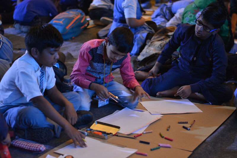 Drawing workshop with the famous artist and writer Akhilesh